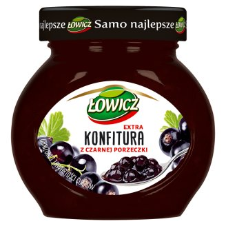 Łowicz Low Sugar Blackcurrant Extra Jam 240 g