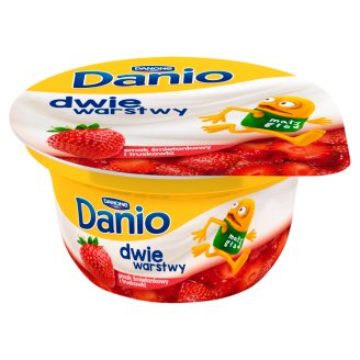 Danone Danio Two Layers Cream Flavoured with Strawberry Fromage Frais 120 g