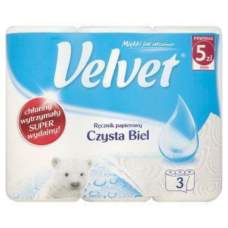 Velvet Pure White Paper Towel 3 Rolls