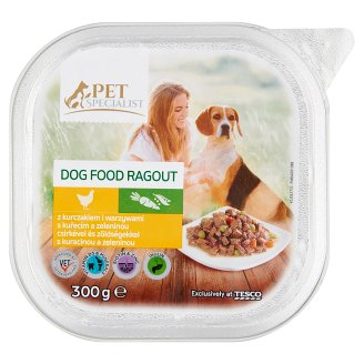 Tesco Pet Specialist Ragout with Chicken and Vegetables Food for Adult Dogs 300 g