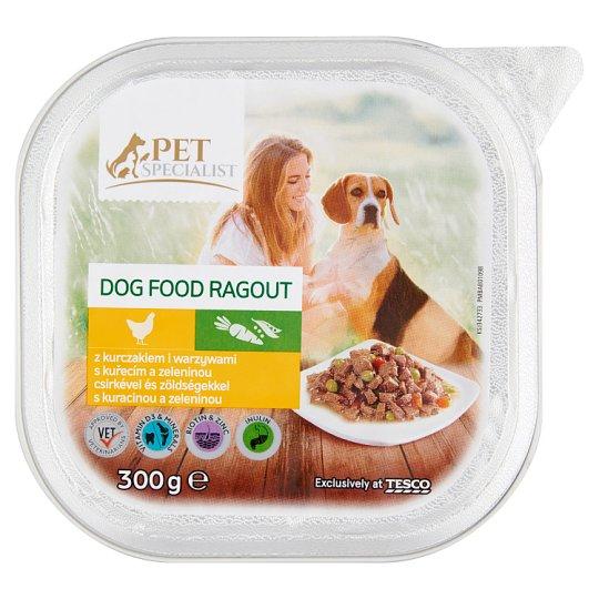 Tesco Pet Specialist Karma dla dorosłych psów ragout z kurczakiem i warzywami 300 g