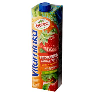 Hortex Vitaminka Strawberry Carrot Apple Juice 1 L