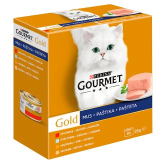 Gourmet Gold Mousse Complete Food for Adult Cats 680 g (8 x 85 g)
