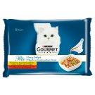 Gourmet Perle Pełnoporcjowa karma dla dorosłych kotów fileciki w smakowitym sosie 340 g (4 x 85 g)