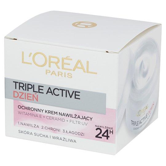 L'Oréal Paris Triple Active Protective Moisturizing Cream Dry and Sensitive Skin 50 ml