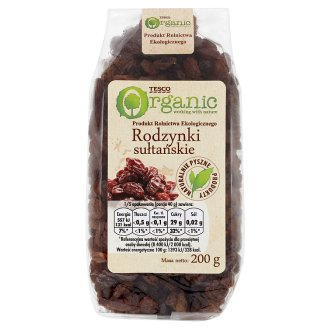 Tesco Organic Sultan Raisins 200 g