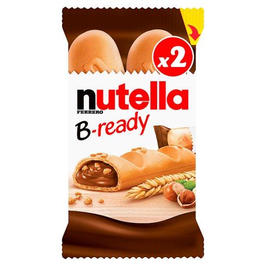 Nutella B-ready Wafelek z orzechami laskowymi i kakao oraz chrupkami 44 g (2 sztuki)