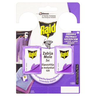 Raid Lavender Scent Mothballs Gel Pendants 2 x 3 g