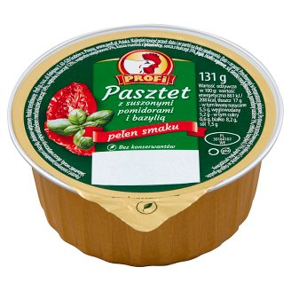 Profi Wielkopolski Pate with Poultry with Dried Tomatoes and Basil 131 g