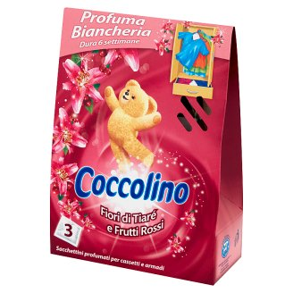 Coccolino Fiori di Tiaré e Frutti Rossi Fragrance Sachet for Wardrobe 3 Pieces