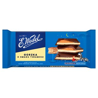 E. Wedel Dark Chocolate with Tiramisu Flavour Filling 100 g