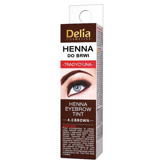 Delia Cosmetics Henna do brwi tradycyjna 4.0 brown