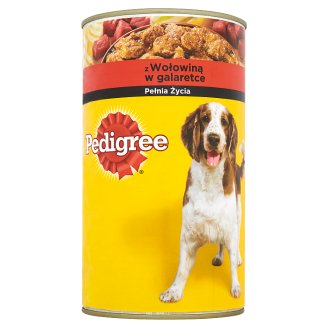 Pedigree Complete Food for Adult Dogs with Beef in Jelly 1200 g