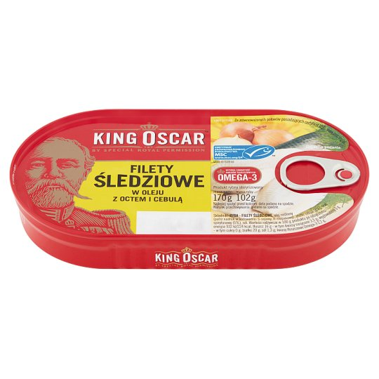 King Oscar Herring Fillets in Oil with Vinegar and Onion 170 g