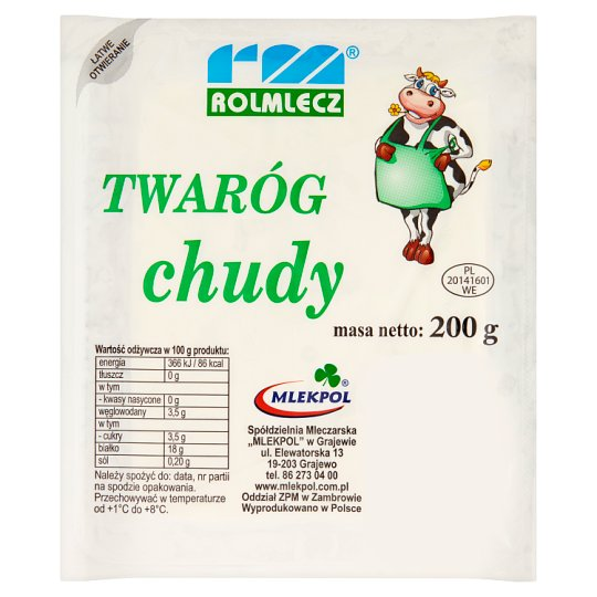 Rolmlecz Low Fat Curd Cheese 200 g