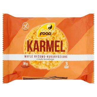 Good Food Wafle ryżowo-kukurydziane o smaku karmelowym 30 g (3 sztuki)