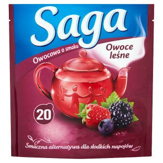 Saga Forest Fruits Flavour Fruit Tea 34 g (20 Tea Bags)