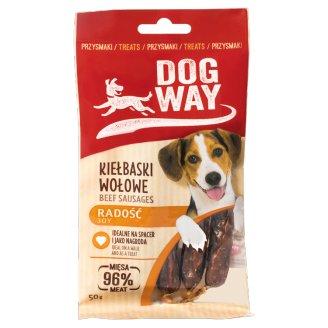 Dogway Radość Przysmak dla psa kiełbaski wołowe 50 g