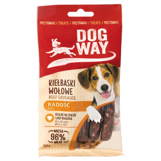 Dogway Joy Beef Sausages Delicacy for Dog 50 g