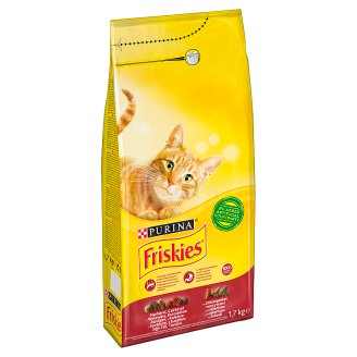 Friskies Cat Food with Beef Chicken and Vegetables 1.7 kg