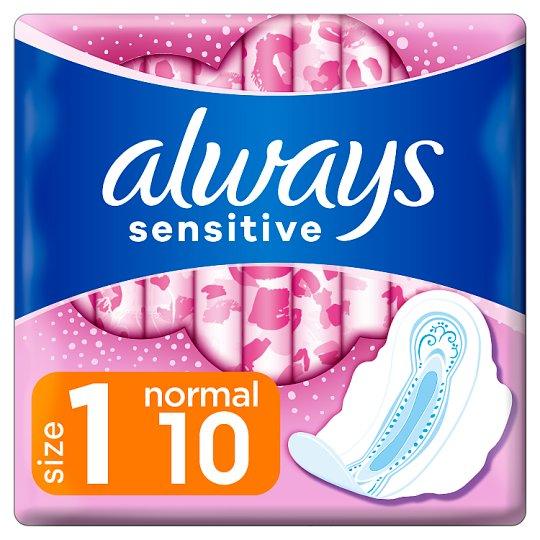 Always Ultra Sensitive Normal (rozmiar 1) Podpaski ze skrzydełkami, 10