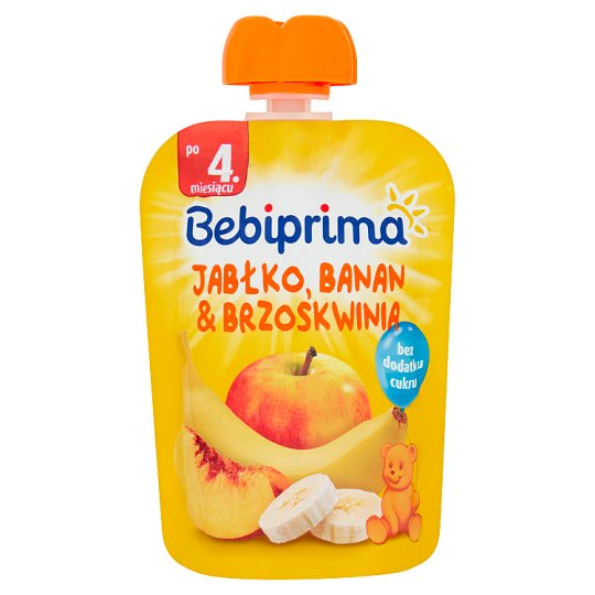 Bebiprima Apple Banana & Peach Fruit Mousse after 4. Month Onwards 90 g