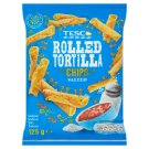Tesco Salted Rolled Tortilla Chips 125 g