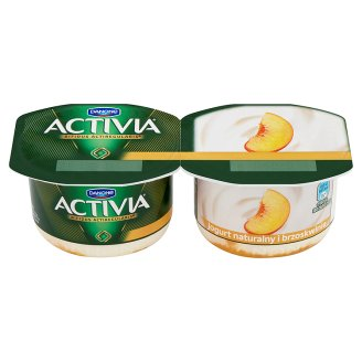 Danone Activia Natural and Peaches Yoghurt 240 g (2 Pieces)