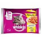 Whiskas 1+ Years Stew in Jelly Poultry Flavors Complete Cat Food 340 g (4 x 85 g)