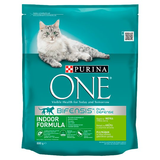 PURINA ONE Indoor Formula Complete Food for Cats with Turkey and Whole Grains 800 g
