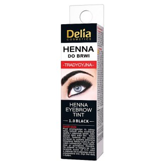 Delia Cosmetics Traditional Henna Eyebrow Tint 1.0 Black