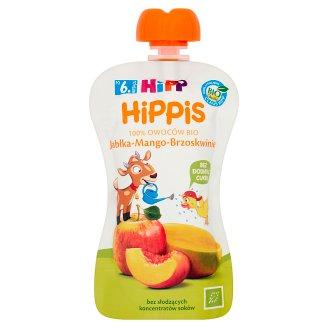 HiPP BIO HiPPiS Jabłka-Mango-Brzoskwinie Mus owocowy po 6. miesiącu 100 g