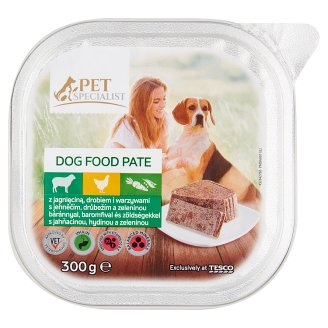 Tesco Pet Specialist Lamb Poultry and Vegetables Pate Food for Adult Dogs 300 g