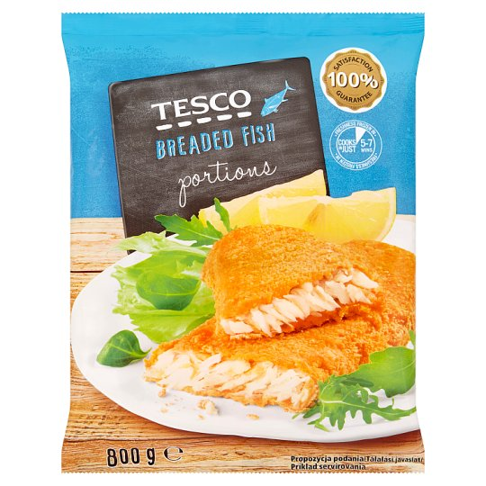 Tesco Breaded Fish Portions 800 g