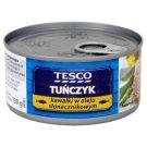 Tesco Tuńczyk kawałki w oleju słonecznikowym 185 g