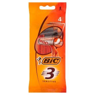Bic 3 Sensitive Disposable Razors 4 Pieces