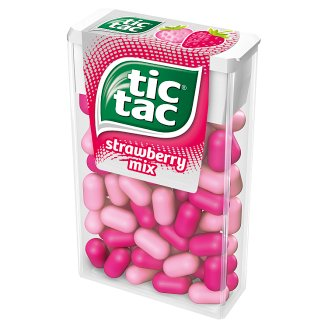 Tic Tac Strawberry Mix Flavoured Sugar Coated Sweets 49 g