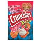 Crunchips X-Cut Chipsy ziemniaczane grubo krojone o smaku papryki w śmietanie 140 g
