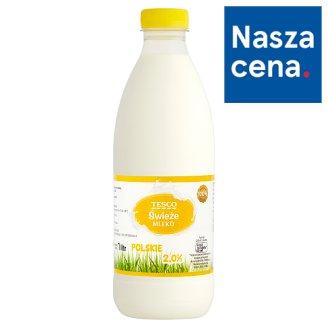 Tesco Świeże mleko polskie 2,0% 1 l