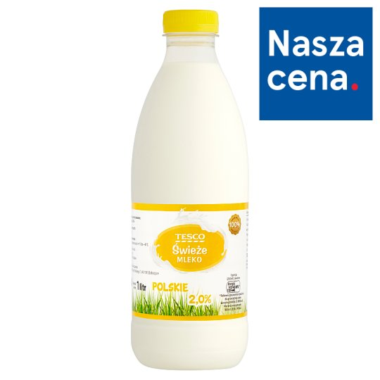 Tesco Fresh Polish Milk 2.0% 1 L