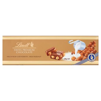 Lindt Swiss Milk Chocolate with Whole Hazelnuts 300 g