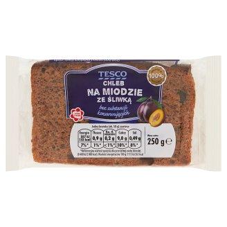 Tesco Chleb na miodzie ze śliwką 250 g