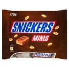 Snickers Minis Batoniki z nugatowym nadzieniem i orzeszkami ziemnymi w karmelu i czekoladzie 170 g