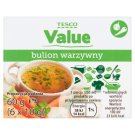 Tesco Value Vegetable Bouillon 60 g (6 Pieces)