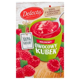 Delecta Owocowy kubek Raspberry Flavoured Soft Jelly 30 g