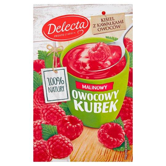 Delecta Owocowy kubek Kisiel o smaku malinowym 30 g