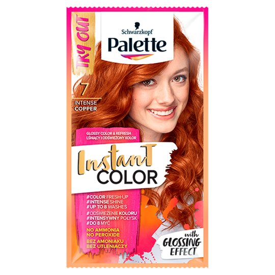 Palette Instant Color Coloring Shampoo Intensive Copper 7 25 ml