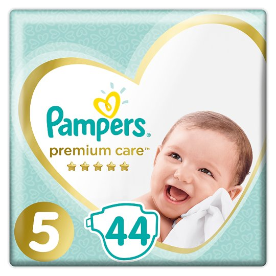 Pampers Premium Care Size 5, Nappy x44, 11kg-16kg