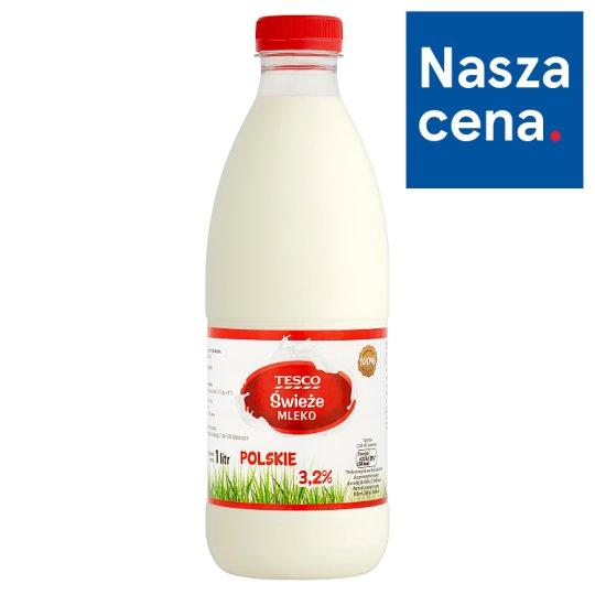 Tesco Świeże mleko polskie 3,2% 1 l