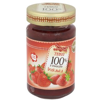 Tesco 100% z owoców Strawberry Jam 230 g